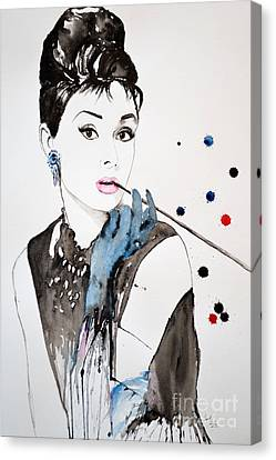 Audrey Hepburn Canvas Print by Ismeta Gruenwald