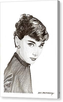Audrey Hepburn Canvas Print by Jack Pumphrey