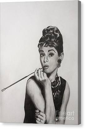 Audrey Hepburn Canvas Print by Michael Durocher