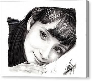 Audrey Hepburn Canvas Print by Rosalinda Markle