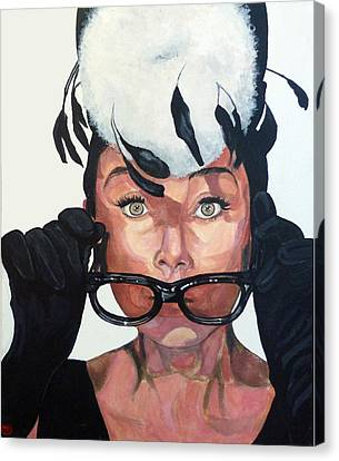Audrey Hepburn Canvas Print by Tom Roderick