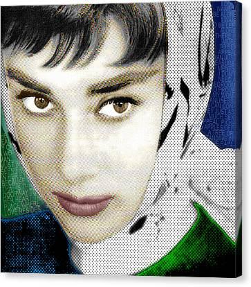 Audrey Hepburn Canvas Print by Tony Rubino