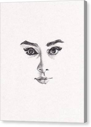 Audrey Canvas Print by Lee Ann Shepard