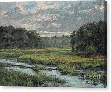 August Evening - Wellfleet Canvas Print by Gregory Arnett