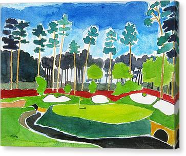 Augusta 13th Georgia - Amen Corner Canvas Print by Lesley Giles