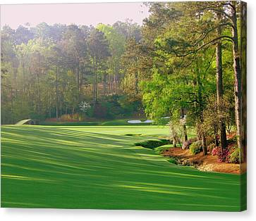 Augusta Hole 12 Canvas Print by Bo  Watson