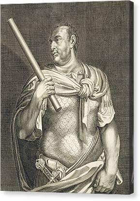 Aullus Vitellius Emperor Of Rome Canvas Print by Titian