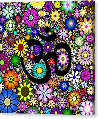 Aum Flowers Canvas Print by Tim Gainey