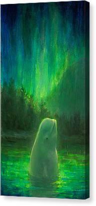 Aurora Beluga Canvas Print by Karen Whitworth