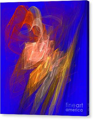 Aurora Blue Canvas Print by Jeanne Liander