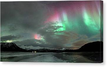 Aurora Borealis During Geomagnetic Storm Canvas Print by Tommy Eliassen
