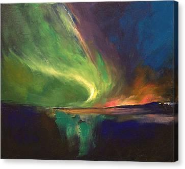 Aurora Borealis Canvas Print by Michael Creese