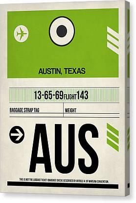 Austin Airport Poster 1 Canvas Print by Naxart Studio