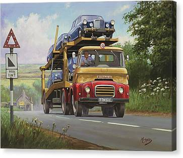 Austin Carrimore Transporter Canvas Print by Mike  Jeffries