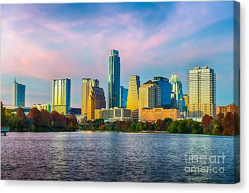 Austin Skyline At Dusk Canvas Print by Tod and Cynthia Grubbs