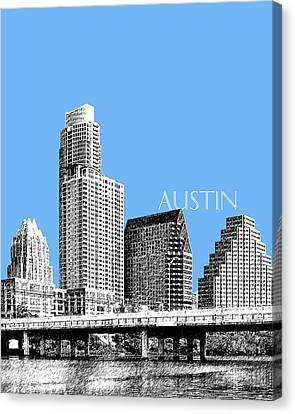 Austin Skyline - Sky Blue Canvas Print by DB Artist