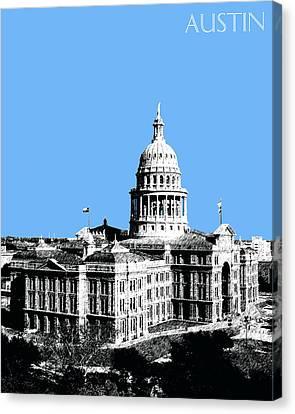 Austin Texas Capital - Sky Blue Canvas Print by DB Artist