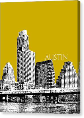 Austin Texas Skyline - Gold Canvas Print by DB Artist