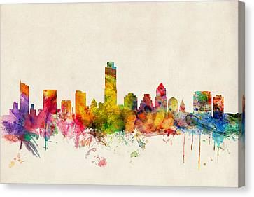 Austin Texas Skyline Canvas Print by Michael Tompsett