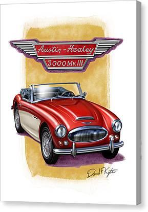 Austin3000-red-wht Canvas Print by David Kyte