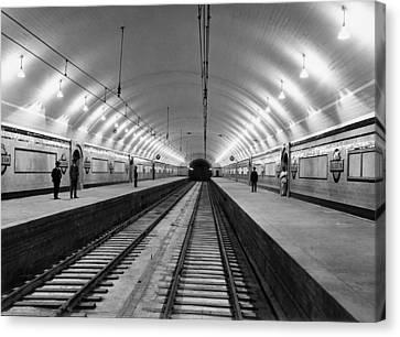 Australia Subway Station Canvas Print by Underwood Archives