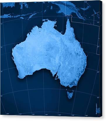 Australia Topographic Map Canvas Print by Frank Ramspott