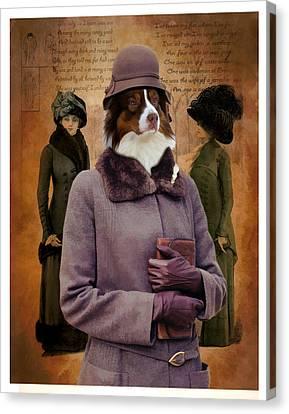 Australian Shepherd Art Canvas Print Canvas Print by Sandra Sij