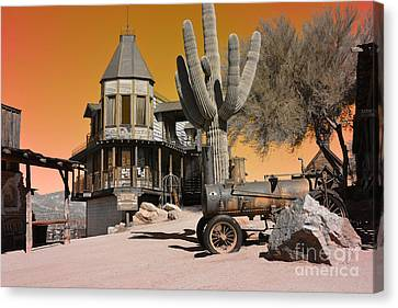 Authentic Ghost Town Canvas Print by Beverly Guilliams