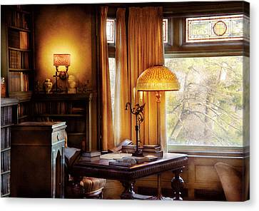 Author -  Style And Class Canvas Print by Mike Savad