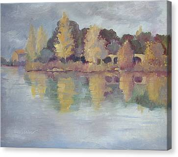 Autmn In Pont Royal Canvas Print by Linda  Wissler