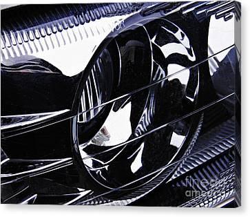 Auto Headlight 155 Canvas Print by Sarah Loft