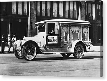 Auto Safety Parade Float Canvas Print by Underwood Archives
