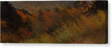 Autumn Abstract Canvas Print by Dan Sproul