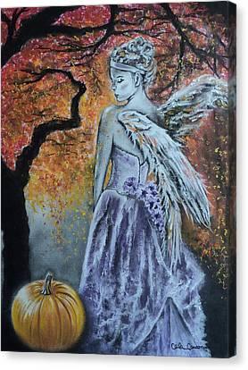 Autumn Angel Canvas Print by Carla Carson