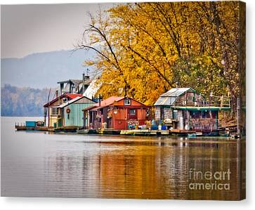 Autumn At Latsch Island Canvas Print by Kari Yearous