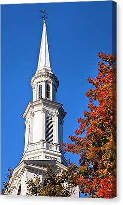 Autumn At The Historic First Canvas Print by Brian Jannsen