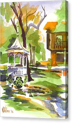 Autumn At The Rectory Canvas Print by Kip DeVore