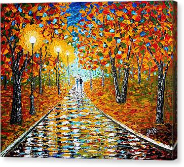 Autumn Beauty Original Palette Knife Painting Canvas Print by Georgeta  Blanaru