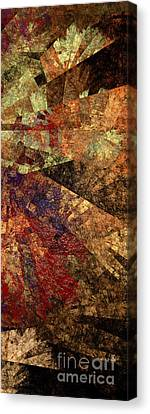 Autumn Bend Canvas Print by Andee Design