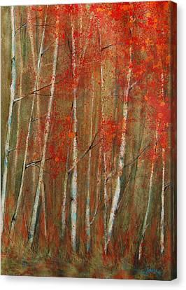 Autumn Birch Canvas Print by Jani Freimann