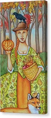 Autumn Colonial Canvas Print by Beth Clark-McDonal