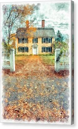 Autumn Colonial Splendor Canvas Print by Edward Fielding