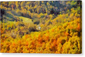 Autumn Colors In Shenandoah Canvas Print by Dan Sproul