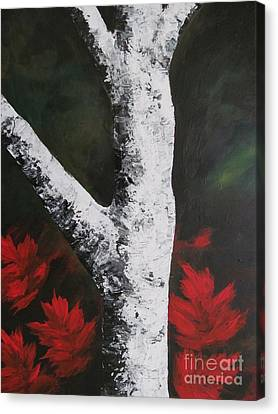 Autumn Dance Canvas Print by Beverly Livingstone