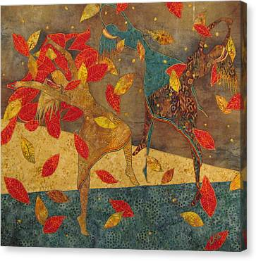 Autumn Dance Canvas Print by Lynda K Boardman