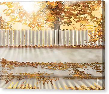 Autumn Day Canvas Print by Veronica Minozzi