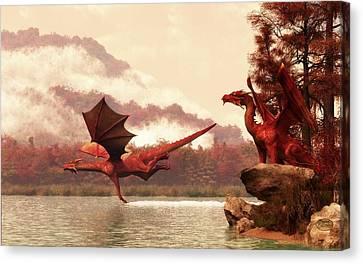 Autumn Dragons Canvas Print by Daniel Eskridge