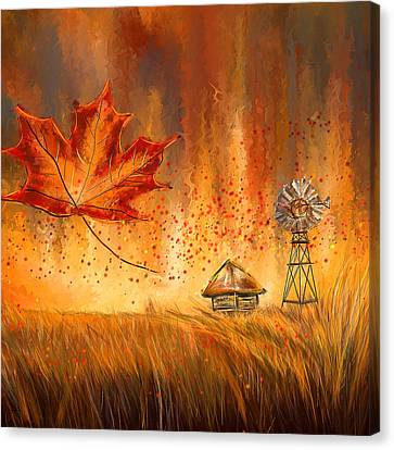 Autumn Dreams- Autumn Impressionism Paintings Canvas Print by Lourry Legarde