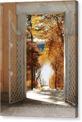 Autumn Entrance Canvas Print by Jessica Jenney