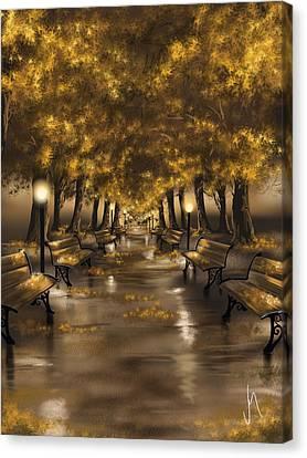 Autumn Evening Canvas Print by Veronica Minozzi